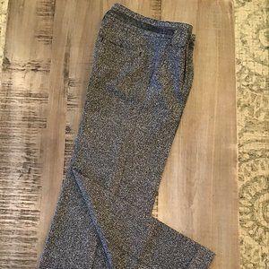 FREE PEOPLE TWEED PANTS WIDE LEG SZ 4 BLACK GRAY